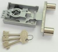 2-Bolzenschloss Nr. 2608, 4 Schlüssel