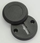 Schlüssellochverdeckrosette, schwarz